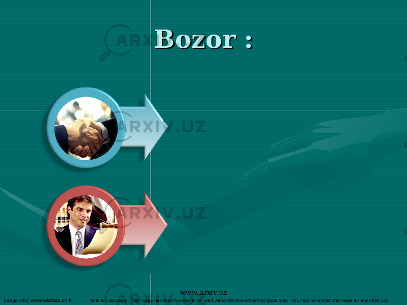 Bozor :Bozor : [Image Info] www.wizdata.co.kr - Note to customers : This image has been licensed to be used within this PowerPoint template only. You may not extract the image for any other use. www.arxiv.uz