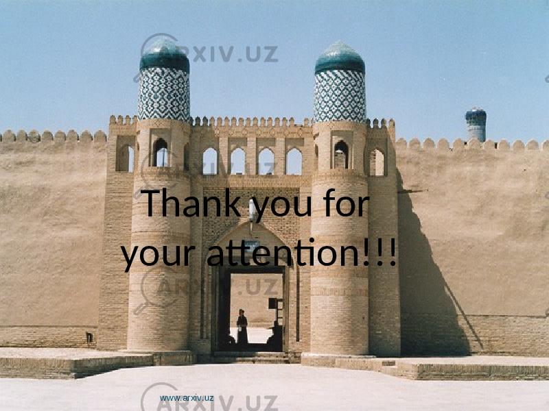 Thank you for your attention!!! www.arxiv.uz