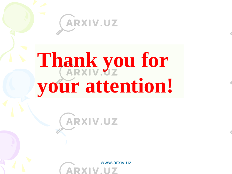 Thank you for your attention! www.arxiv.uz